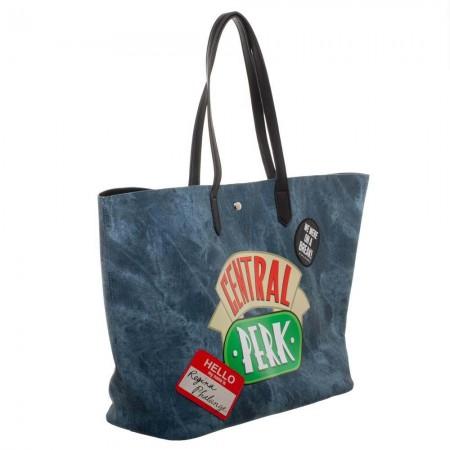 Friends Central Perk Blue Tote Bag