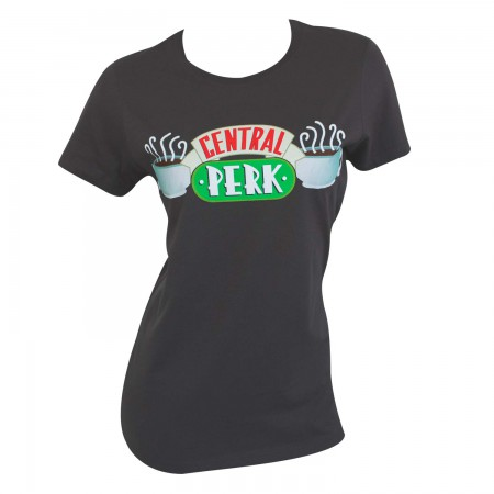 Friends Central Perk Women's Charcoal Grey TShirt