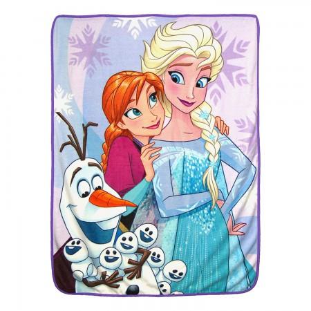 Frozen Characters Snow Hugs Fleece Blanket