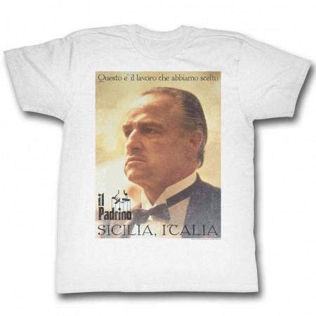 Godfather Poster White TShirt