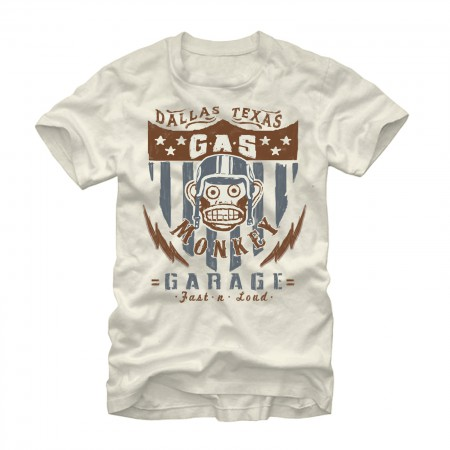 Gas Monkey Garage American Cream T-Shirt