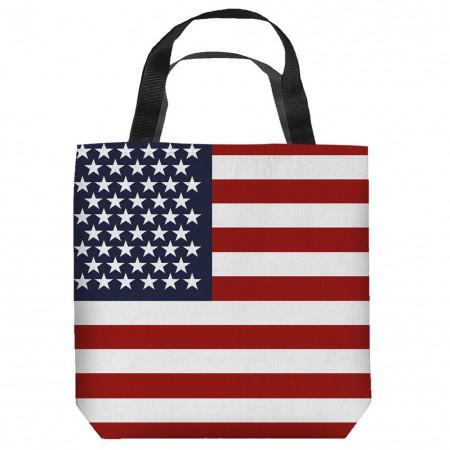 American Flag Patriotic Tote Bag