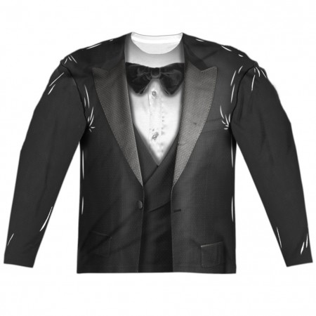 Men's Tuxedo Long Sleeve Costume Shirt