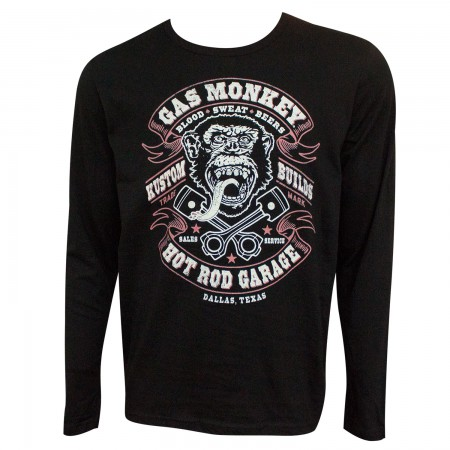 Gas Monkey Garage Blood Sweat and Beer Long Sleeve Shirt