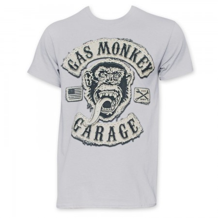 Gas Monkey Garage Grey Logo T-Shirt