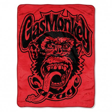Gas Monkey Garage Super Plush Star Logo Blanket