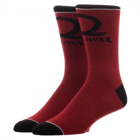 God Of War Red Men's Crew Socks
