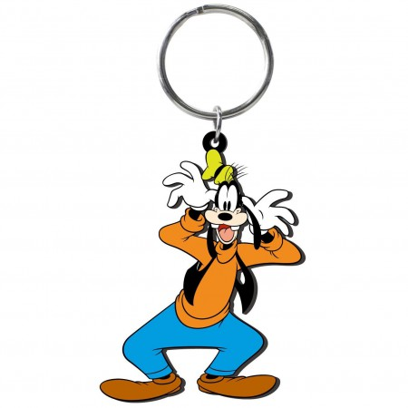Goofy PVC Soft Touch Keychain