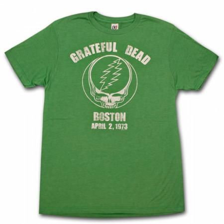 Grateful Dead Boston Heather Green Graphic T Shirt