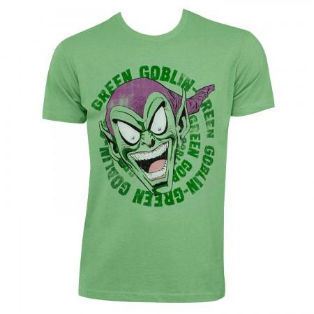 Green Goblin Men's Green Laughing T-Shirt