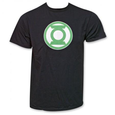 Green Lantern Logo Black T-Shirt
