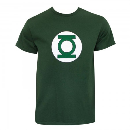 Green Lantern Men's Dark Green Logo T-Shirt