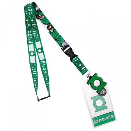 Green Lantern Keychain Lanyard