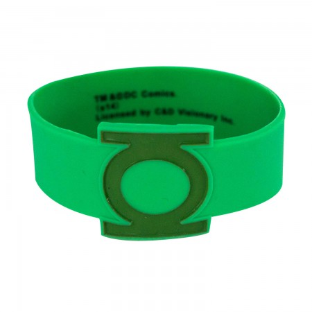 Green Lantern Rubber Logo Bracelet