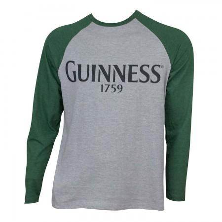 Guinness Men's Grey Baseball T-Shirt