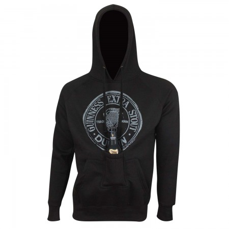 Guinness Men's Black Beer Pouch Hoodie
