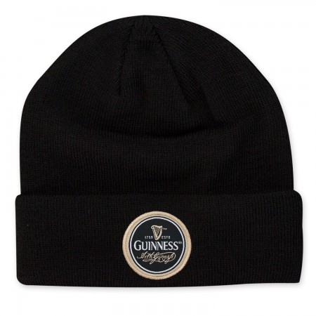 Guinness Black Roundpatch Beanie