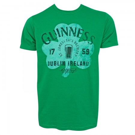 Guinness Men's Green Clover Logo T-Shirt