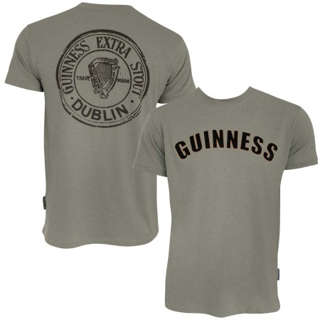 Guinness Men's Heather Green Bottle Cap T-Shirt
