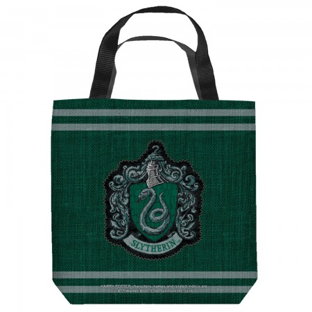 Harry Potter Slytherin Crest Tote Bag