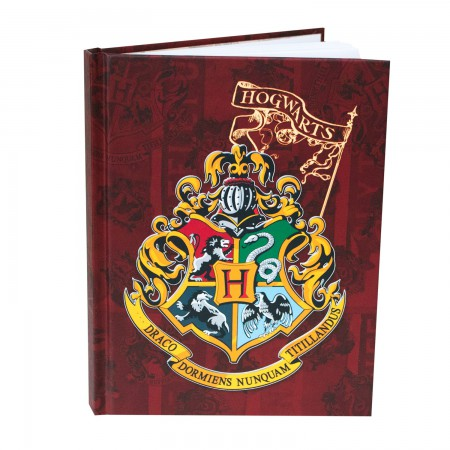 Harry Potter Brown Hogwarts Crest Hard Cover Journal