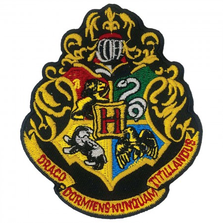 Harry Potter Hogwarts School Insignia Iron On Patch