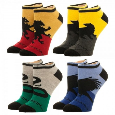 Harry Potter Ladies 4-Pack Ankle Socks