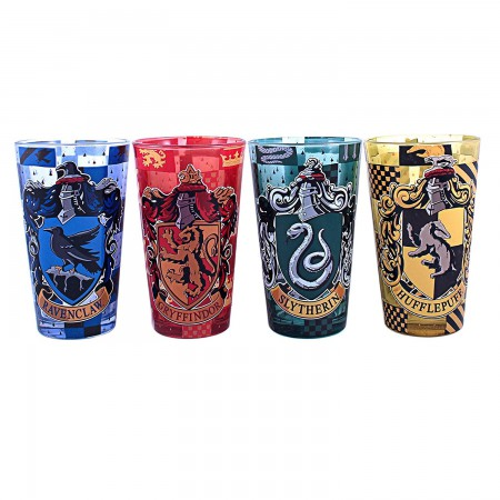 Harry Potter Houses Four Pack Pint Glass Set