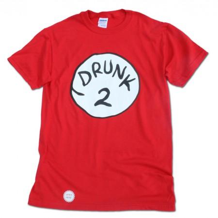 Drunk 2 Bottle Opener Halloween Costume Red T-Shirt}