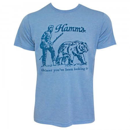 Hamm's Vintage Bear Men's Heather Blue T-Shirt