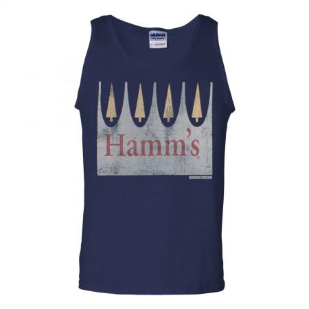 Hamm's Vintage Logo Navy Mens Tank Top