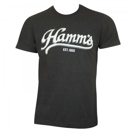 Hamm's Men's Black Sports Logo T-Shirt