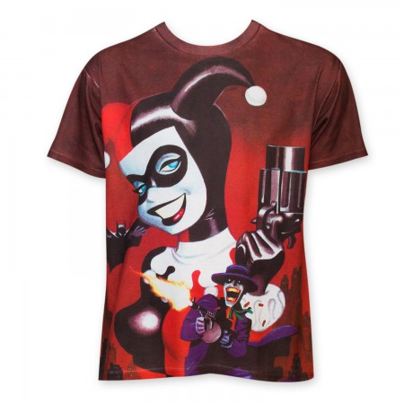 Harley Quinn Men's Sublimated Pistol T-Shirt