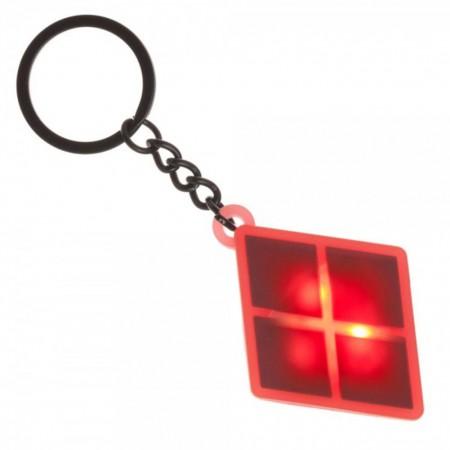 Harley Quinn Flashing Logo Keychain