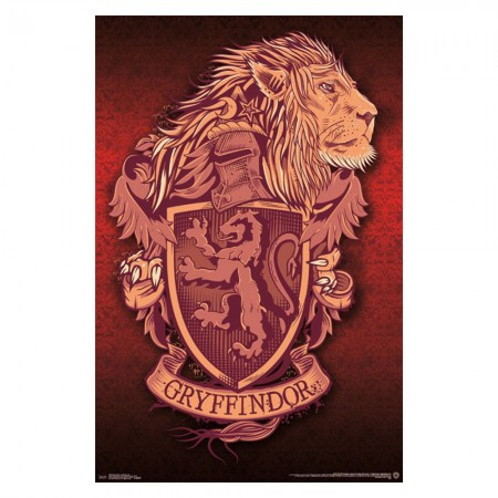 Harry Potter Gryffindor Crest Lion Poster