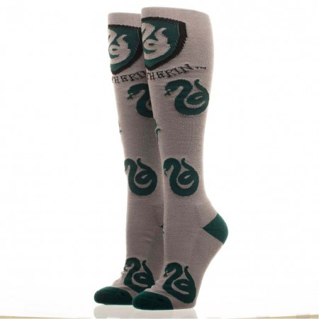 Harry Potter Women's Gray Knee High Slytherin Socks