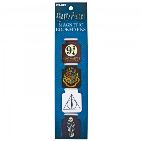 Harry Potter Symbols Magnetic Bookmarks Set Of 4