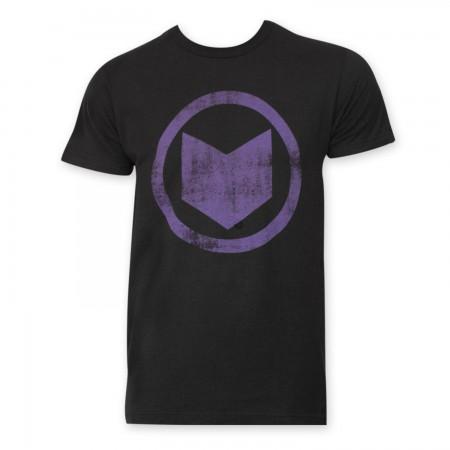 Hawkeye Men's Black Distressed Icon T-Shirt