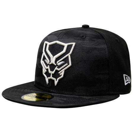 Black Panther Tonal Camo New Era 59Fifty Fitted Hat