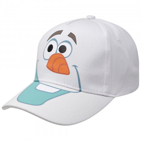 Frozen Olaf Big Face Boy's White Adjustable Hat