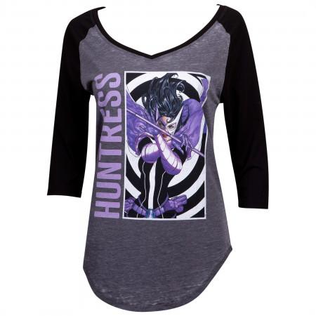 The Huntress Women's Raglan 3/4 Sleeve T-Shirt