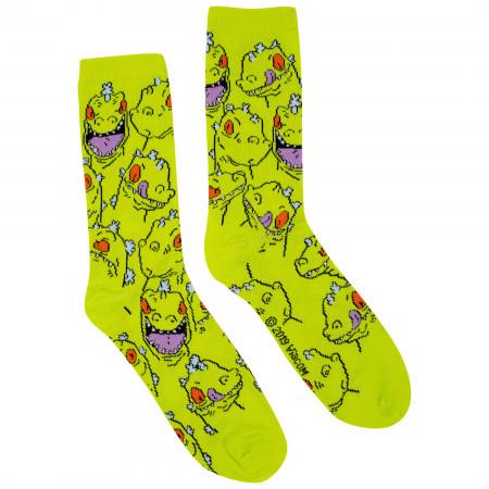 Rugrats Reptar 2-Pack Black And Green Crew Socks