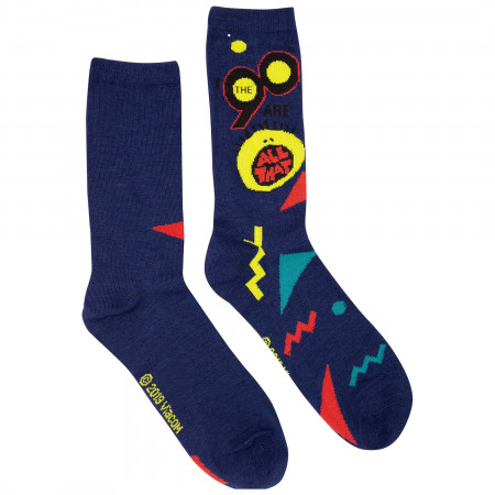 Nickelodeon All That 2-Pack Black and Grey Logo Crew Socks
