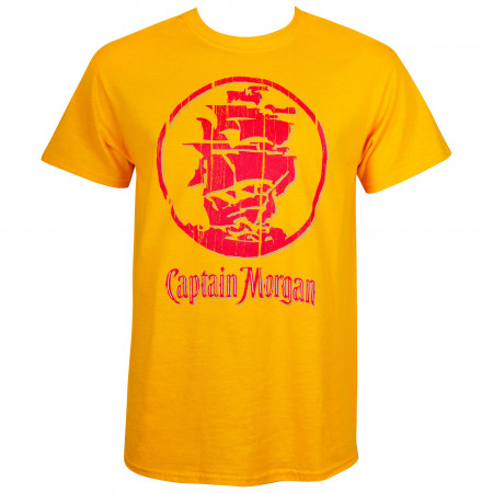 Captain Morgan Men's Gold Ship Logo T-Shirt