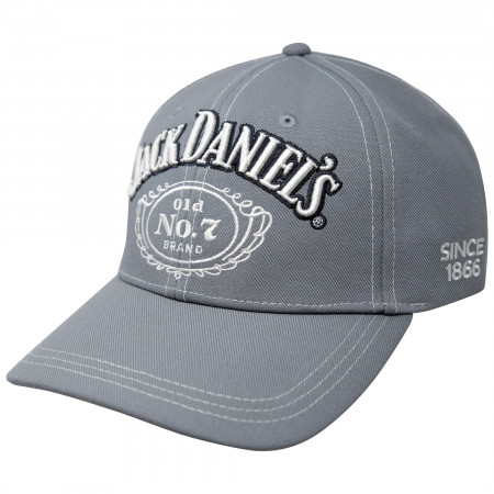 Jack Daniels Old No. 7 Grey Contrast Stitching Hat