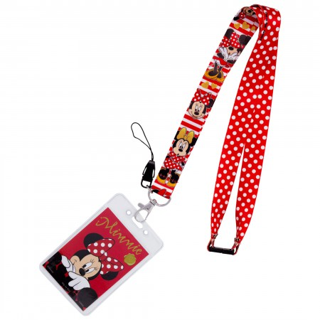 Minnie Mouse Dotted Keychain Lanyard
