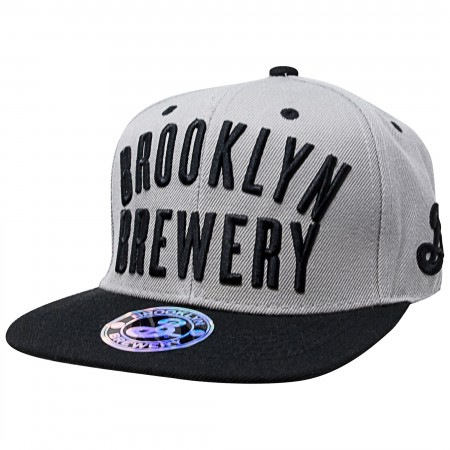 Brooklyn Brewery Grey Spell Out Snapback Hat