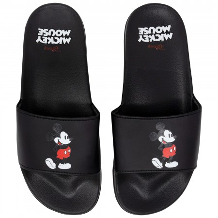 Mickey Mouse Slip-On Black Sandals