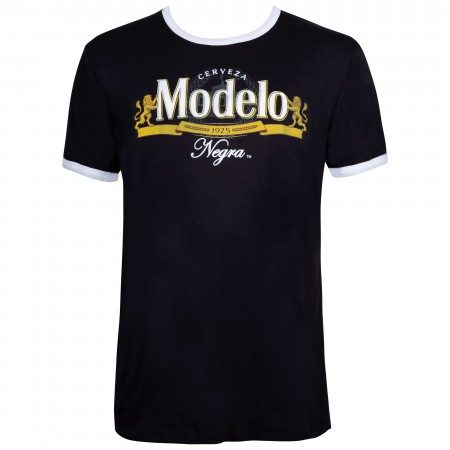 Modelo Men's Black Ringer T-Shirt