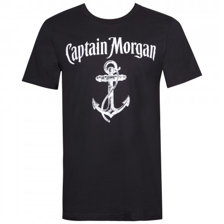 Captain Morgan Anchor Logo Black Tee Shirt